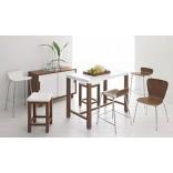 Кухонная мебель. Контраст белого и тёмного дерева