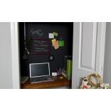 Экономия места в маленькой квартире; кабинет в шкафу