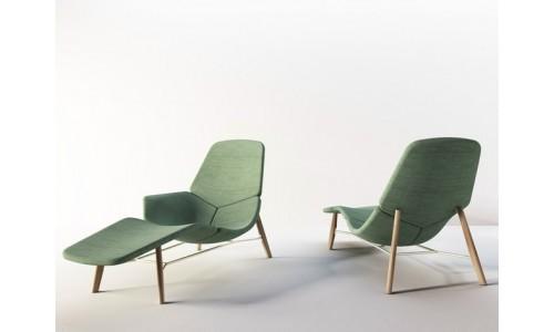 Lounge кресло с тканевой обивкой