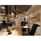 Оформление офиса IT-компании; смешение vintage–industrial