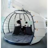 Автономные офисные перегородки полукруглой формы