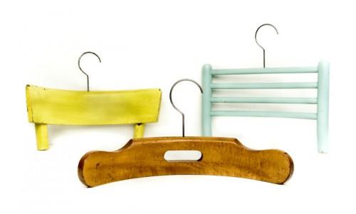 Вешалки из старой мебели
