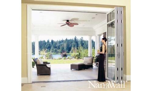 Nanawall. Межкомнатные перегородки из стекла