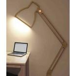 Оригинальная плоская настолькая лампа