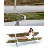 Садовая скамейка из прутьев