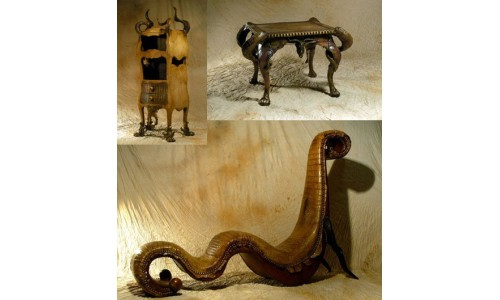 Готическая кожаная мебель