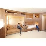 Интересное решение двухъярусной кровати для детской комнаты