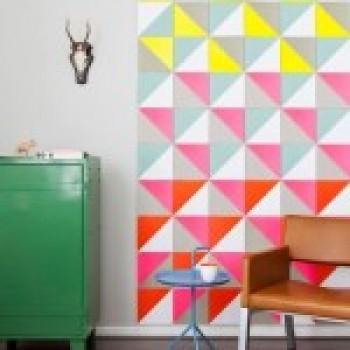 Геометрические рисунки на стенах. Интересные примеры с фото