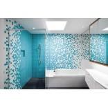 Примеры для поиска вдохновения: плитка для ванной в голубых тонах