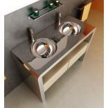 Итальянская мебель для ванной; сталь, стекло и лучшие породы дерева