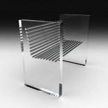 Оригинальное кресло с прозрачными боковинами
