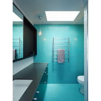 Одинаковая плитка для пола и стен в ванной комнате: 12 примеров с фото