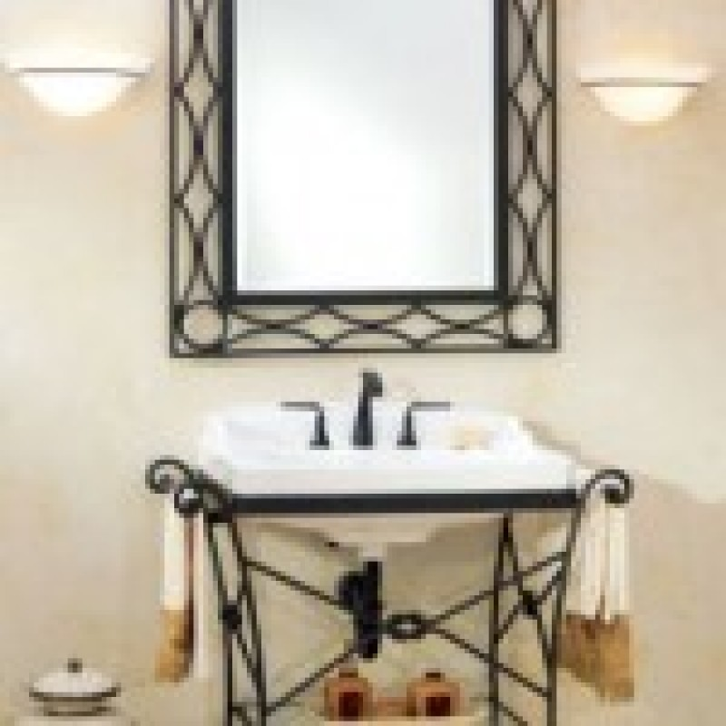 Wrought iron bathroom vanity