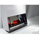 Шкаф для прихожей с отделением для обуви и наклонным зеркалом
