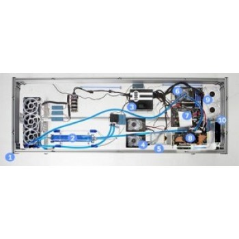Аквариум компьютерного гика – стол с системным блоком жидкого охлаждения