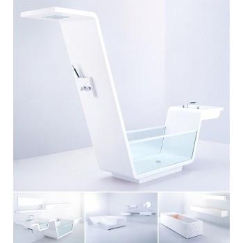 UsTogether объединили ванну с душевой кабиной