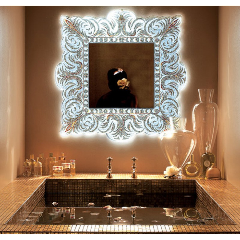 Mosaic bathroom mirror
