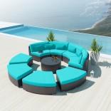 9-секционный садовый круглый диван