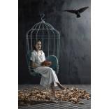 Романтическое подвесное кресло Птичка в клетке
