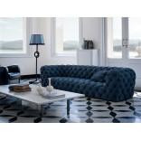 Кожаный диван с обивкой честер от Бакстера