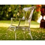 Прозрачное пластиковое кресло Педрали