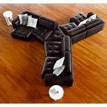 Кожаные модульные диваны - создайте сами интерьер своей мечты