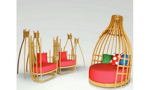 Уличная мебель от Deesawat в форма бутылки