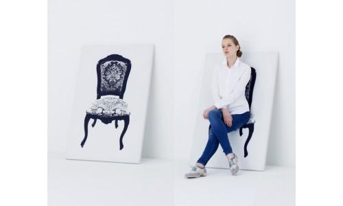 Удивительное искусство двойного назначения - холстина на японском кресле YOY
