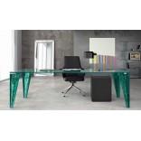 Прямоугольный стеклянный стол для столовой