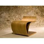 Минималистская деревянная мебель - кресло Лист