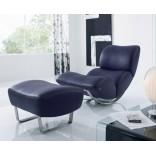 Кожаное кресло-качалка с подставкой для ног от фирмы Койнор