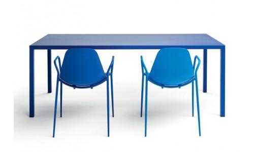 Лакированный алюминиевый стол и стулья