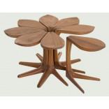 Стол для небольшого пространства из восьми частей