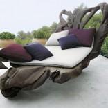 Наружный декор - Коврики из ткани и деревянный остов необычной формы от дизайнера Паола Ленти