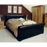 Кожа в дизайне кроватей от Pinetum