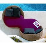 Мебель для бассейна - двухместный диван в форме гантели