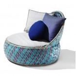 Кресло для сада от Dedon из переработанных материалов