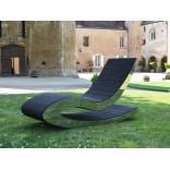 Садовое кресло-лаундж на шлифованной металлической раме