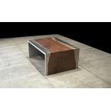Стальной и деревянный журнальный столик от дизайнеров Johnhoushmand