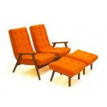 Модное двойное кресло с двумя подставками