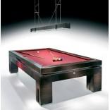 Роскошный бильярдный стол из темного ореха с тяжелыми прямоугольными ножками