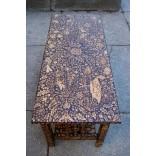 Журнальный столик,из обожженного дерева