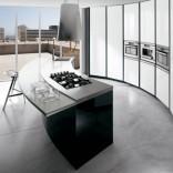 Кухня в черно-белых тонах, дизайнерское решение