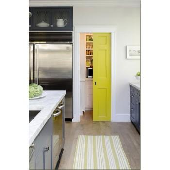 Декор кухни в желтых и серых тонах