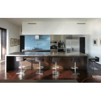 10 красивых образцов островных кухонь из нержавеющей стали