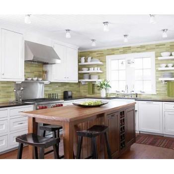 Кухня в зелёной гамме вызывает чувство свежести