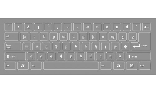 Armenian Keyboard Layout