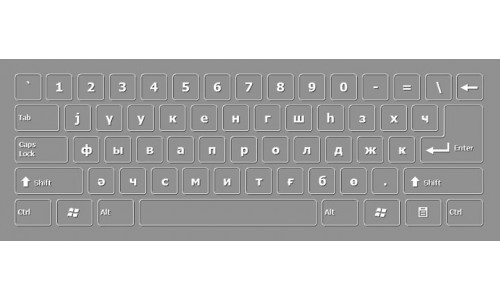 Azerbaijani Cyrillic Keyboard Layout