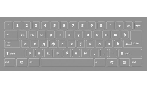 Bosnian Cyrillic Keyboard Layout