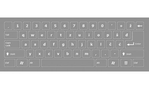 Bosnian Latin Keyboard Layout
